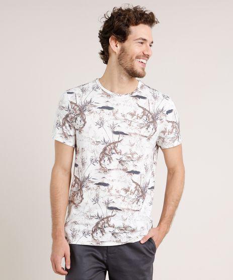 Camiseta-Masculina-Slim-Fit-Estampada-de-Tigre-Manga-Curta-Gola-Careca-Off-White-9724024-Off_White_1
