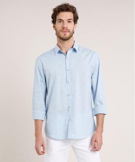 Camisa-Masculina-Tradicional-Estampada-Manga-Longa-Azul-Claro-9645920-Azul_Claro_1