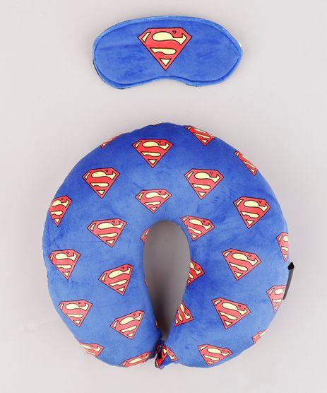 Kit-de-Apoio-de-Pescoco-Super-Homem-Estampado---Tapa-Olho-Azul-9847929-Azul_1