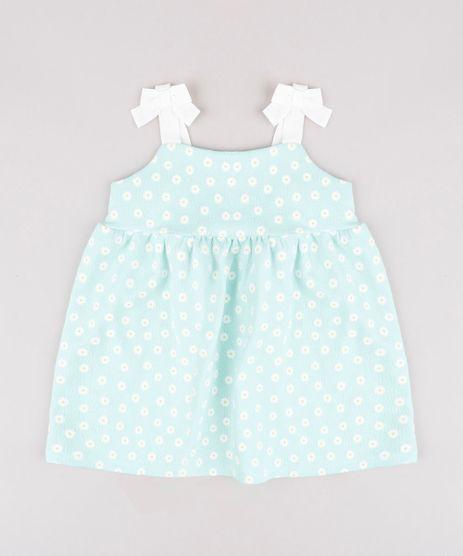Vestido-Infantil-Estampado-Floral-com-Lacos-Alca-Media-Verde-Claro-9664213-Verde_Claro_1