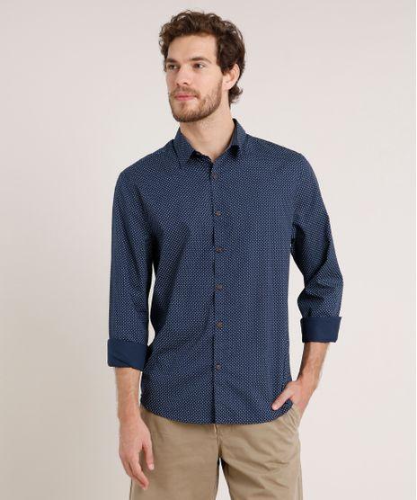 Camisa-Masculina-Tradicional-Estampada-Mini-Print-Geometrica-Manga-Longa-Azul-Marinho-9645922-Azul_Marinho_1