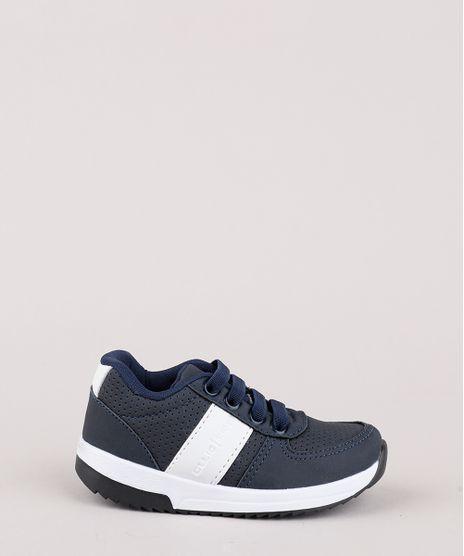 Tenis-Infantil-Ollie-Running-com-Faixa-Lateral-e-Micro-Furos--Azul-Marinho-9844763-Azul_Marinho_1