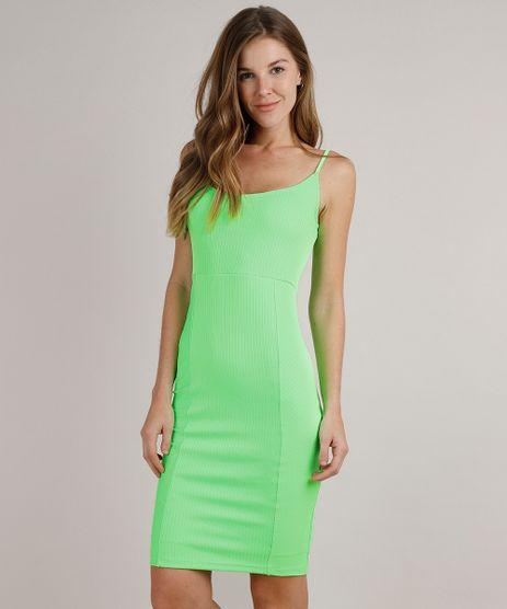 Vestido-Feminino-Midi-Canelado-Alcas-Finas-Verde-Neon-9777576-Verde_Neon_1