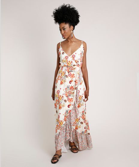 Vestido-Feminino-Longo-Transpassado-Estampado-Floral-com-Babado-Alca-Fina-Off-White-9681370-Off_White_1
