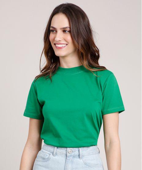 T-Shirt-Feminina-Mindset-Manga-Curta-Decote-Redondo-Verde-9394894-Verde_1