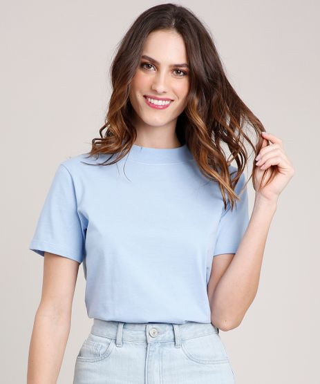 T-Shirt-Feminina-Mindset-Manga-Curta-Decote-Redondo-Azul-Claro-9394894-Azul_Claro_1