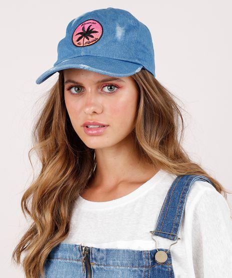 Bone-Jeans-Feminino-Blueman-Aba-Curva-com-Bordado-Azul-Medio-9779648-Azul_Medio_1
