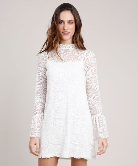 Vestido-Feminino-Mindset-em-Renda-Curto-Manga-Sino-Off-White-9655194-Off_White_1