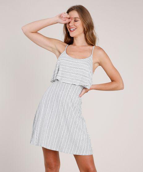 Vestido-Feminino-Curto-Evase-Listrado-com-Sobreposicao-Alca-Fina-Branco-9853912-Branco_1