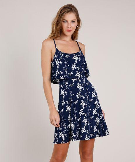 Vestido-Feminino-Curto-Evase-Estampado-Floral-com-Sobreposicao-Alca-Fina-Azul-Marinho-9853914-Azul_Marinho_1
