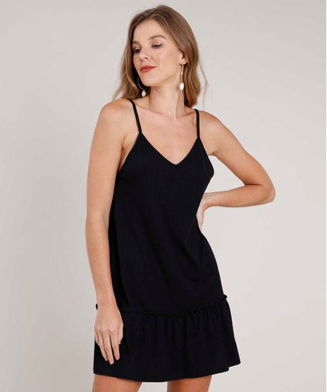 Vestido-Feminino-Curto-Canelado-Alca-Fina-Preto-9781284-Preto_1