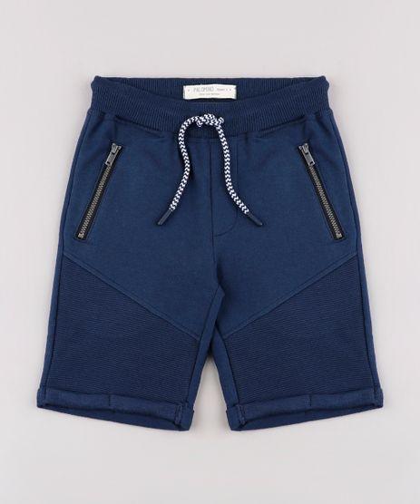 Bermuda-Infantil-em-Moletom-Basico-com-Cordao-Azul-Marinho-9659932-Azul_Marinho_1