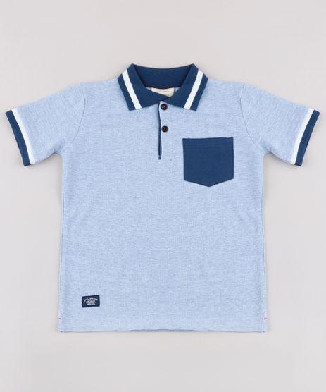 Polo-Infantil-em-Piquet-com-Bolso-Manga-Curta-Azul-9689390-Azul_1
