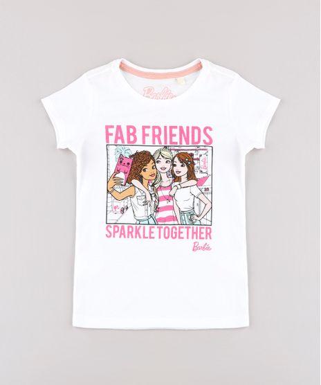 Blusa-Infantil-Barbie---Friends--Manga-Curta-Off-White-9757219-Off_White_1