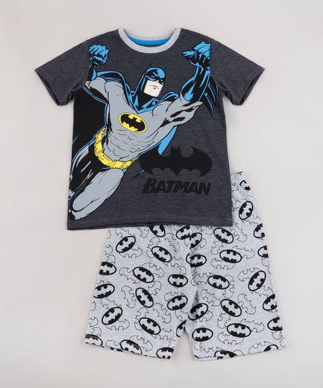 Pijama-Infantil-Batman-Manga-Curta-Cinza-Mescla-Escuro-9762473-Cinza_Mescla_Escuro_1