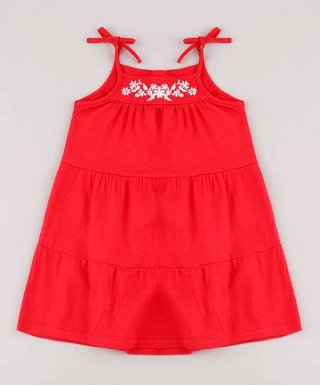 Vestido-Infantil-com-Recorte-e-Bordado-Floral-Alca-Fina-Vermelho-9678252-Vermelho_1