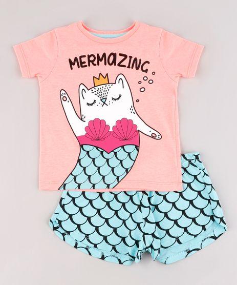 Pijama-Infantil--Mermazing--Manga-Curta-Rosa-9762478-Rosa_1