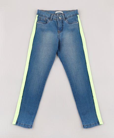 Calca-Jeans-Infantil-com-Faixa-Neon-Azul-Medio-9755321-Azul_Medio_1