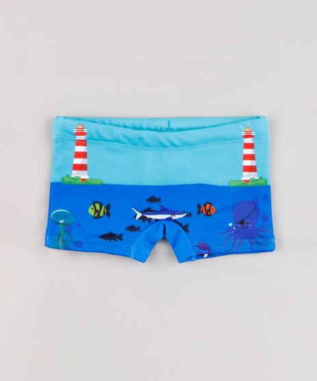 Sunga-Infantil-Boxer-Estampada-Fundo-do-Mar-Azul-9803489-Azul_1
