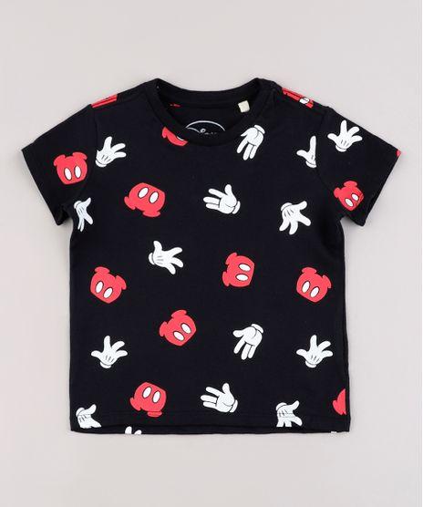 Camiseta-Infantil-Mickey-Estampada-Manga-Curta-Preto-9833199-Preto_1