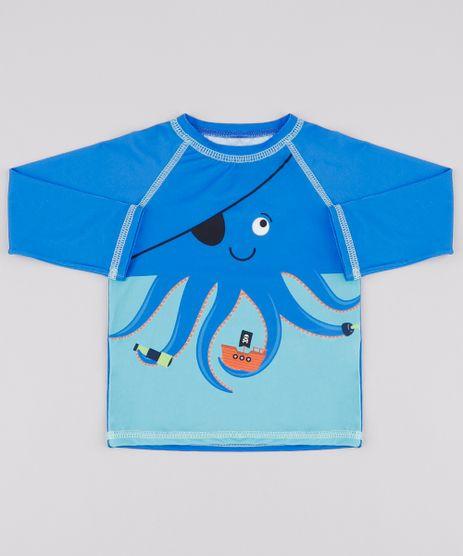 Camiseta-de-Praia-Infantil-Polvo-Raglan-Manga-Longa--Azul-9803487-Azul_1