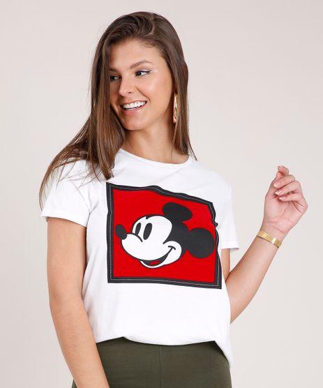 Blusa-Feminina-Mickey-Mouse-Manga-Curta-Decote-Redondo-Branca-9850847-Branco_1