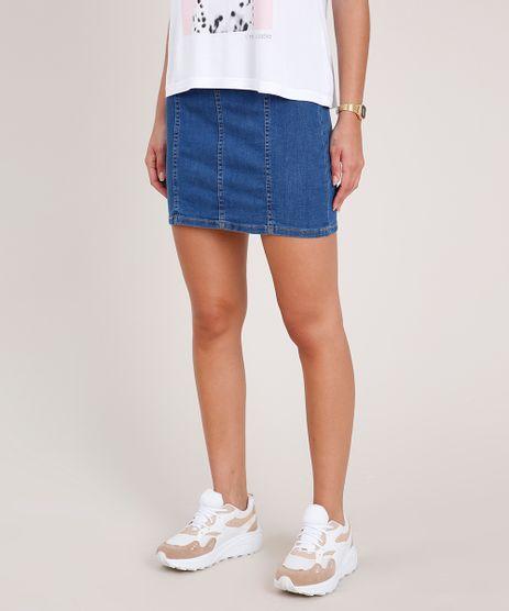 Saia-Jeans-Feminina-Curta-com-Recortes-Azul-Medio-9830544-Azul_Medio_1