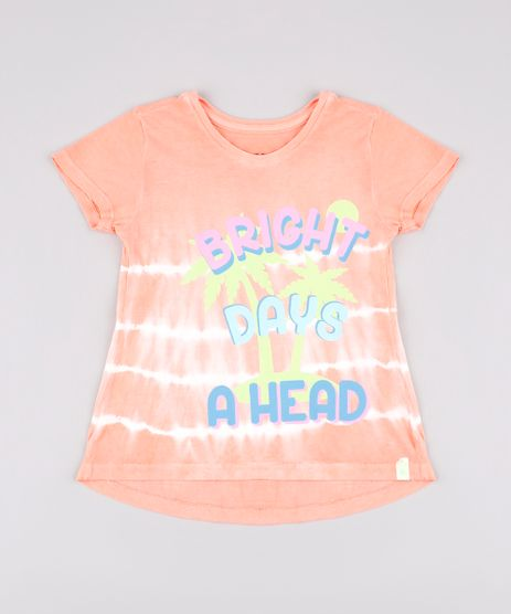 Blusa-Infantil-Estampada-Tie-Dye--Bright-days-a-head--Manga-Curta-Coral-9748628-Coral_1