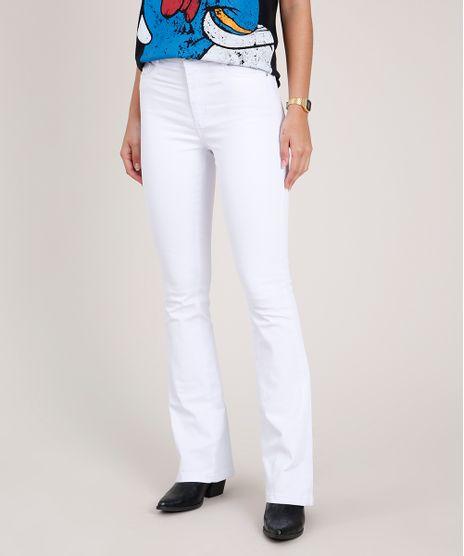 Calca-de-Sarja-Feminina-Sawary-Boot-Cut-Cintura-Alta-Branca-9857024-Branco_1