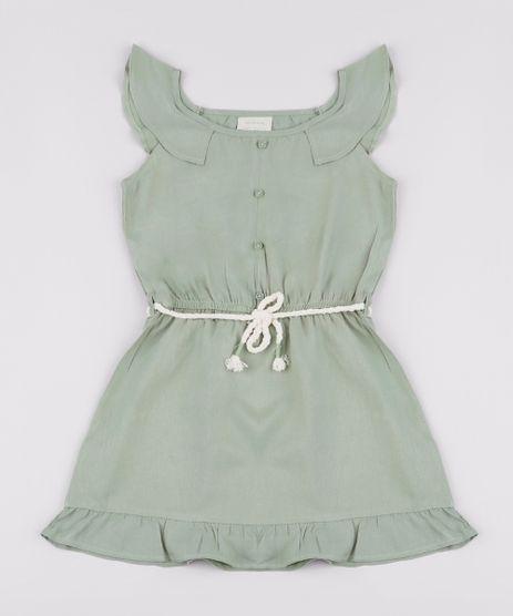 Vestido-Infantil-com-Babado-e-Cordao-Alca-Larga-Verde-Militar-9841842-Verde_Militar_1