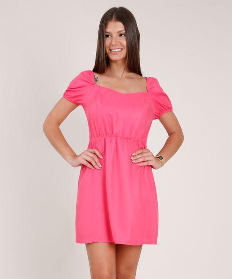 Vestido-Feminino-Curto-Manga-Bufante-Rosa-9846081-Rosa_1