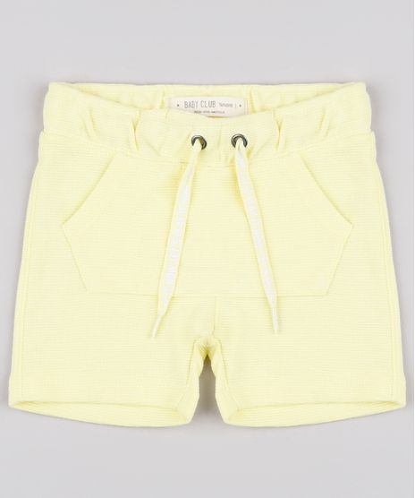 Bermuda-Infantil-Canelada-com-Bolso-Amarela-9671642-Amarelo_1