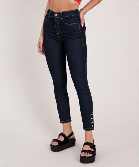 Calca-Jeans-Feminina-Sawary-Cigarrete-Push-Up-Cintura-Alta-Azul-Escuro-9844942-Azul_Escuro_1