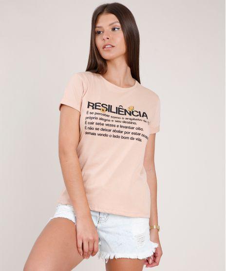 Blusa-Feminina--Resiliencia--Manga-Curta-Decote-Redondo-Bege-9777872-Bege_1
