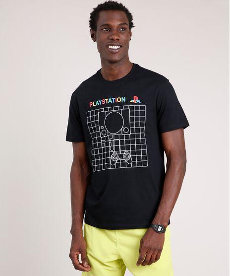 Camiseta-Masculina-PlayStation-Manga-Curta-Gola-Careca-Preto-9781568-Preto_1
