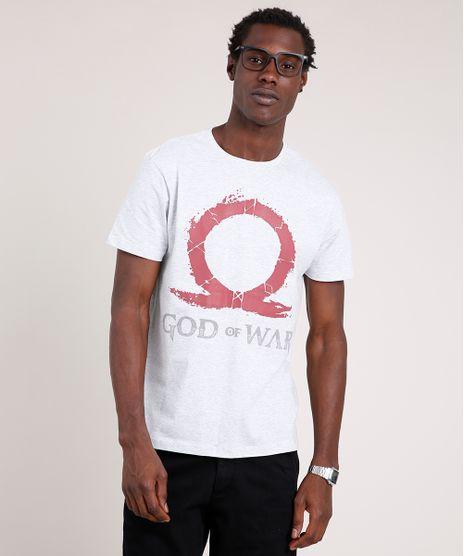 Camiseta-Masculina-God-of-War-Manga-Curta-Gola-Careca-Cinza-Mescla-Claro-9800796-Cinza_Mescla_Claro_1