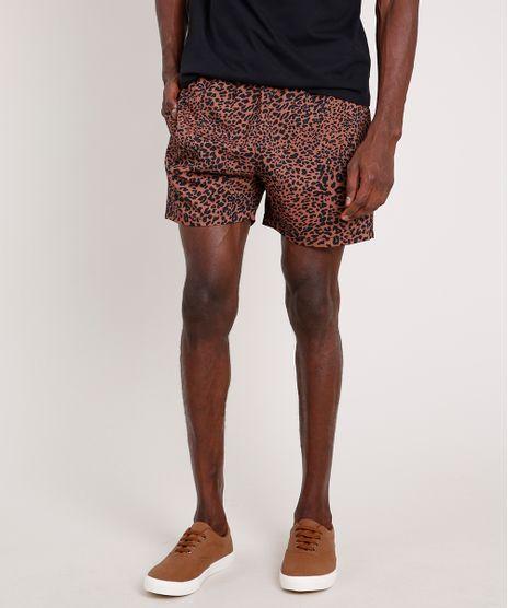 Short-Masculino-Estampado-Animal-Print-Onca-com-Bolsos-e-Cordao-Marrom-9847355-Marrom_1