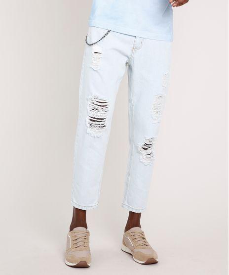 Calca-Jeans-Masculina-Tapered-Destroyed-com-Corrente-Azul-Claro-9814882-Azul_Claro_1