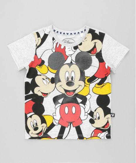 3d591d73e Camiseta-Mickey-Cinza-Mescla-Claro-8548171-Cinza Mescla Claro 1