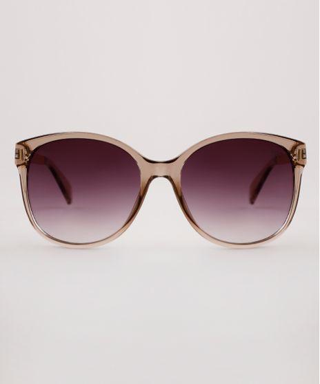 Oculos-de-Sol-Redondo-Feminino-Yessica-Bege-9891461-Bege_1