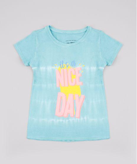 Blusa-Infantil-Estampada-Tie-Dye--Nice-Day--Manga-Curta-Verde-Agua-9748630-Verde_Agua_1
