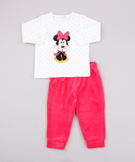 Conjunto-Infantil-Minnie-em-Plush-de-Blusao-Estampado-de-Poa-Branco---Calca--Rosa-9590221-Rosa_1