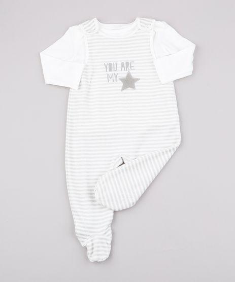Conjunto-Infantil-de-Camiseta-Manga-Longa-Off-White---Macacao-Listrado-em-Plush-Sem-Manga--Off-White-9688054-Off_White_1