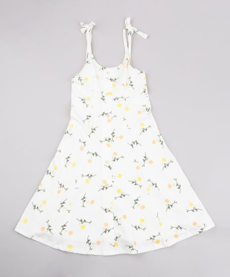 Vestido-Infantil-Estampado-Floral-com-Botoes-Alca-Fina-Off-White-9812248-Off_White_1