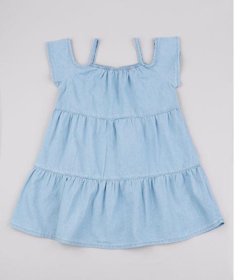 Vestido-Jeans-Infantil-com-Recortes-Decote-Ombro-a-Ombro-Manga-Curta-Azul-Claro-9845745-Azul_Claro_1