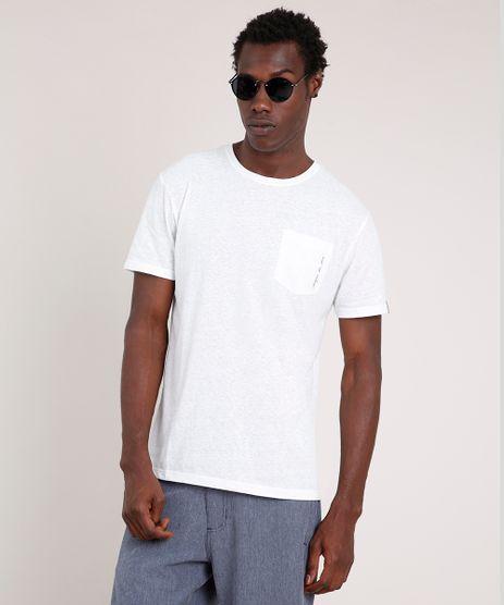 Camiseta-Masculina-Agua-de-Coco-Folhagem-com-Bolso-Manga-Curta-Gola-Careca-Off-White-9702017-Off_White_1