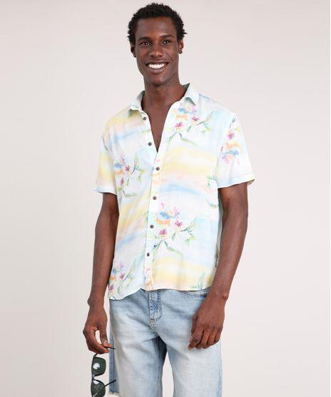 Camisa-Masculina-Blueman-Tradicional-Estampada-Floral-Paraiso-Manga-Curta-Verde-Agua-9727432-Verde_Agua_1