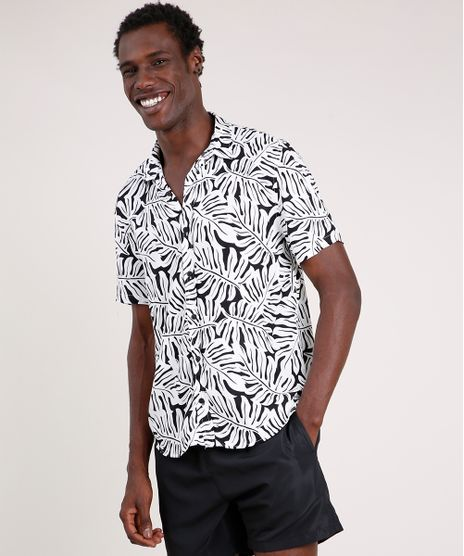 Camisa-Masculina-Triya-Tradicional-Estampada-de-Folhagem-Manga-Curta-Branca-9727434-Branco_1