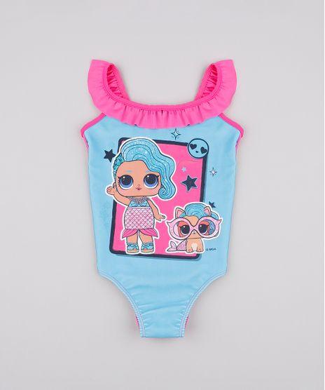 Maio-Infantil-Lol-Surprise-com-Babado-Protecao-UV-50--Azul-9804917-Azul_1