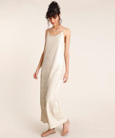 Vestido-Feminino-Mindset-Longo-em-Paetes-Alca-Fina-Bege-Claro-9872415-Bege_Claro_1